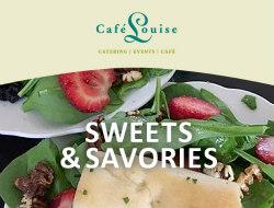 sweets and savories menu